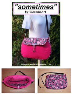 """FREE eBook """"sometimes"""" sewing pattern and instructions for this bag!"""