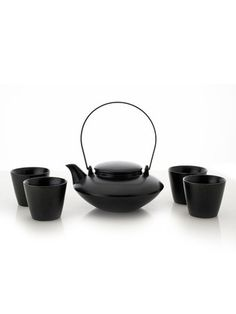Japanese Tea Set Black by Yedi Houseware