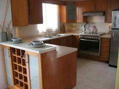 Kitchen Rack, Kitchen Dinning, Open Kitchen, Kitchen Decor, Kitchen Design, Modern Kitchen Cabinets, Kitchen Interior, Mexican Kitchens, Little Kitchen
