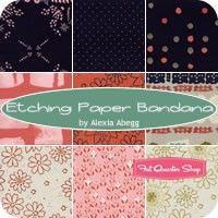 Etching Paper Bandana Fat Quarter Bundle Reservation<BR>Alexia Abegg for Cotton   Steel Fabrics