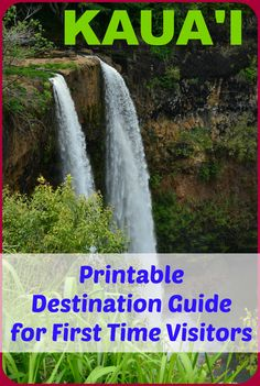 Awesome Printable quick-reference destination guide for first time visitors to Kauai (where to stay/eat, what to do/see, money saving tips, etc.). Sample 7-day itinerary included!!