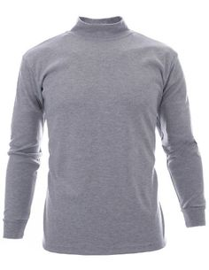 FLATSEVEN Mens Mock Turtle Neck T-Shirts (TTN01) Grey, US M/Asia L -- Click here for more details @