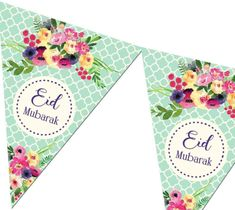 - Pack of reusable double-sided bunting - 2 meters in length ( 10 Flags) - Gloss finish Eid Bunting, Buntings, Diy Eid Decorations, Mosque Silhouette, Eid Stickers, Doorway Curtain, Happy New Year Wallpaper, Eid Party, Eid Al Fitr