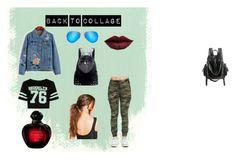 """Back to Collage"" by dogarlekin on Polyvore featuring moda, Boohoo, Ray-Ban, Chicnova Fashion, LASplash, BackToSchool, outfit i girl"