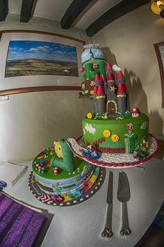 Mario wedding cake
