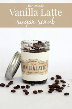 Vanilla Latte Sugar Scrub- omgosh! I bet this smells ahhmazing!