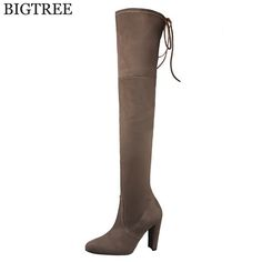 shoes woman Faux Suede Slim Boots Sexy over the knee high women snow boots women's fashion winter thigh high boots k306 #Affiliate