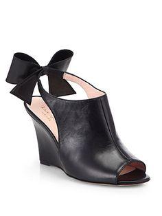 8ab8a85d394 Kate Spade New York - Ira Leather Slingback Wedges - Saks.com Walk A Mile