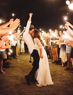 Original Outdoor Wedding Ideas Sparklers make great lighting for romantic wedding photos! Outside of the Box Outdoor Wedding IdeasSparklers make great lighting for romantic wedding photos! Outside of the Box Outdoor Wedding Ideas Wedding Exits, Wedding Goals, Boho Wedding, Dream Wedding, Wedding Day, Wedding Ceremony, Wedding Hacks, Wedding Themes, Wedding Venues