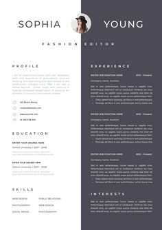 Your resume is one of your best marketing tools. The goal of your resume is to tell your individual story in a compelling way that drives prospective employers to want to meet you. In today's compe… Template Cv, Resume Design Template, Resume Templates, Portfolio Web, Portfolio Design, Portfolio Layout, Portfolio Ideas, Cv Web, Cv Inspiration