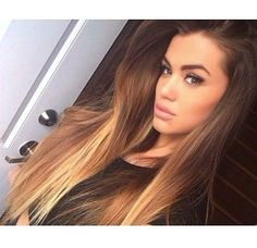 If I had long hair and could pull off brown, I would definitely do this colour! This girl is stunning!