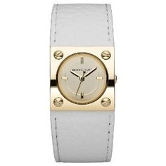 Michael Kors White Leather Strap Champagne Dial Ladies Watch MK2211-- 24% DISCOUNT & FREE SUPER SAVER SHIPPING for a limited time!--->  http://amzn.to/13e2t8Y