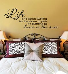 Wall Decal LIFE isn't about waiting Dance in by decorexpressions