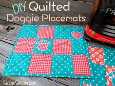 DIY Quilted Doggie Placemats - free pattern! http://suzyssitcom.com/2015/03/diy-quilted-doggie-placemats-and-tasty-nutrition-for-your-dog.html?utm_content=buffer09563&utm_medium=social&utm_source=pinterest.com&utm_campaign=buffer #ad