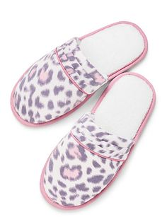 Dreamer Flannel Slipper Pink Leopard Victoria's Secret