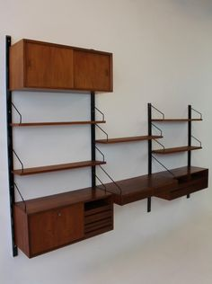 wall unit from the sixties by poul cadovius for unknown producer vintage design storage pinterest vintage designs walls and storage