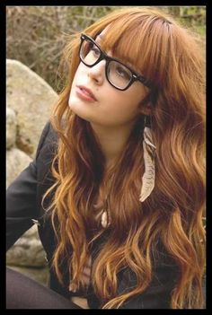 The New Hair Colour Trends For Fall 2014-2015 | This copper color is to die for! Bangs