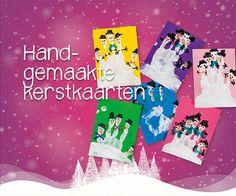 Handgemaakte kerstkaarten | Maak een kerstkaart met wat verf, stiften en je hand. Super simpel en heel origineel.