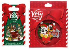 Mickey's Very Merry Christmas Party merchandise - pins