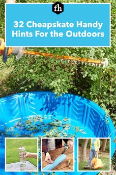 Save those milk jugs, soda cans, pool noodles and other things around your house you thought were useless. Think again! Give them a new life outdoors with these genius ideas. Pipe Insulation, Yard Tools, Milk Jugs, Tiki Torches, Lawn Chairs, Pool Noodles, Buying A New Home, Hedges, Money Saving Tips
