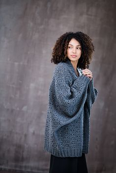Commit to coziness in a voluminous batwing cardigan knit from Quarry. Multidirectional construction makes Batwing Cardigan, Oversized Knit Cardigan, Knit Cardigan Pattern, Cocoon Cardigan, Jacket Pattern, Cardigan Sweaters For Women, Cardigans, Grey Cardigan, Pullover