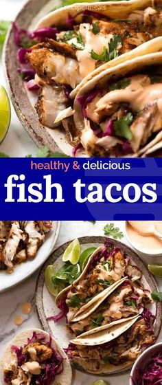 You don't need to deep fry to make terrific Fish Tacos. You just need a really great marinade! Seafood Recipes, Mexican Food Recipes, Dinner Recipes, Cooking Recipes, Healthy Recipes, Ethnic Recipes, Fish Recipes, Simple Spinach Salad, Recipetin Eats