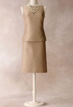 Brides.com: Talbots - Fall/Holiday 2012 . Sheath top, $119, and pencil skirt, $119, Talbots  Browse more mother-of-the-bride dresses.