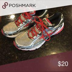 Brooks running shoe Black, white and red brooks running shoe, gently worn Shoes Athletic Shoes