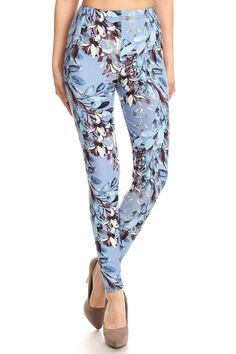 348642b21a3af Buttery soft floral print high waist ankle length leggings plus(p) size