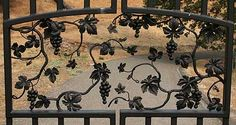 wrought iron gates with grapes - Google Search