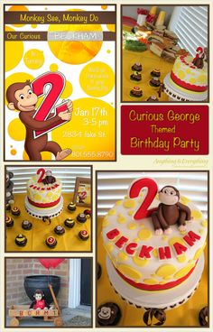 Curious George themed Birthday Party - Anything & Everything