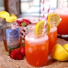 Sweeten up your summer hydration with this Strawberry Lemonade with Honey. - KS