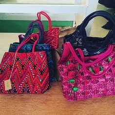 Vibrant colors, embroidered by Hand, Italian leather, handbags, purses being unpacked, from Guatemala, getting ready for Pop Up, Fairfield Theater Company, December 6th, 10 to 4