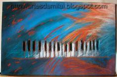 Piano Piano, Tie Dye Skirt, Pastel, Movie Posters, Painting, Cross Stitch, Pintura, Cake, Film Poster