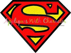 Superman Filled Stitch Embroidery Design Clipart Superhero Stickers Emblems