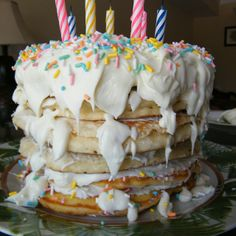 Pancake birthday cake!
