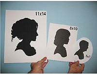 Can order 5x7 silhouettes instead of making one!