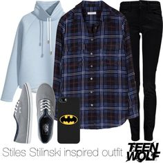 Stiles Stilinski inspired outfit/Teen Wolf by tvdsarahmichele on Polyvore featuring Equipment, H&M, Calvin Klein and Vans