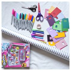 Decorating a birthday wrapping paper. #drawing #colouring #kids #art #creative #craft #wrappingpaper #gift #present #design #Shopkins #fun #activity #cute