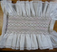 Smocked fabric for Hanger cover.