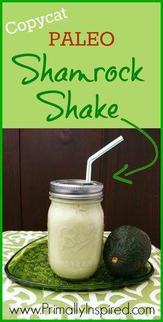 Copycat Paleo Shamrock Shake - www.PrimallyInspired.com