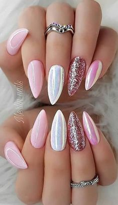 Manicure 44 Stylish Manicure Ideas for 2019 Manicure: How to Do It Yourself at Home! Part 38 44 Stylish Manicure Ideas for 2019 Manicure: How to Do It Yourself at Home! Part manicure ideas; manicure ideas for short nails; manicure ideas come Cute Acrylic Nails, Cute Nails, Pretty Nails, Perfect Nails, Gorgeous Nails, Hair And Nails, My Nails, Oval Nails, How To Do Nails