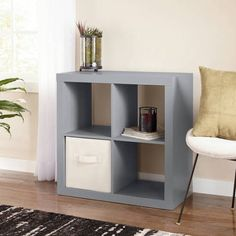 Better Homes and Gardens Square 4-Cube Organizer, Multiple Colors - Walmart.com