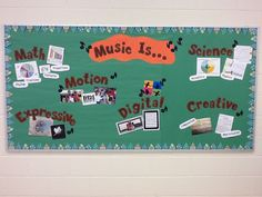 Music Bulletin Board Idea: Try some other words as well to describe music. Music Classroom, Classroom Decor, Classroom Walls, Music Teachers, Future Classroom, Classroom Organization, Music Bulletin Boards, Music Activities, Eyfs Activities