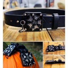 Our Limited Edition Belts - 'web14' Premium Distressed Thick. ORDER NOW WHILE SUPPLIES LAST!! #Belts #Fashion #Halloween