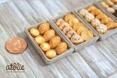 Dollhouse miniature bread and pastries ~ by Atolie