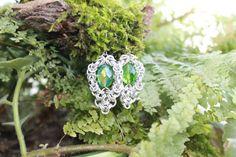 Silver Anodized Aluminum Nacreous Emerald Glass by ArtPoetryShop