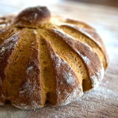 Pumpkin Yeast Bread - This cute spice loaf is shaped like a pumpkin and tastes like one, too! It also makes delicious French Toast.
