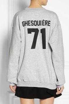 LPD New York|Team Ghesquière printed cotton-fleece sweatshirt |NET-A-PORTER.COM