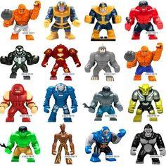 Marvel Super Heroes Avengers Thanos Hulk Venom Ironman Building Blocks Bricks Toys